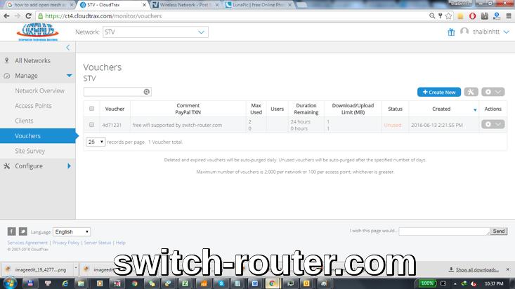 Cấu hình thiết bị wifi Open Mesh quản lý với CloudTrax
