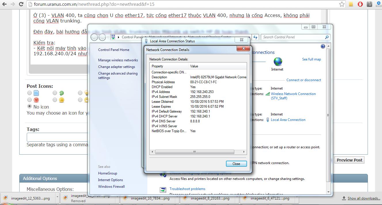 Cấu hình VLAN Trunking trên Mikrotik và switch HP