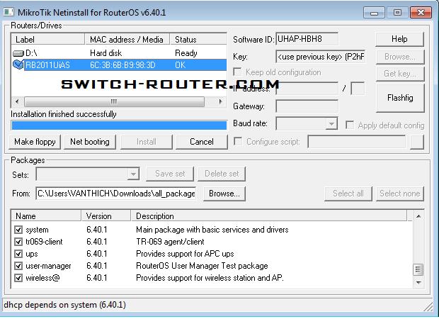 Hướng dẫn Reinstall RouterOS